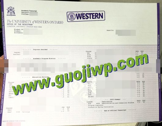 Buy UWO transcript