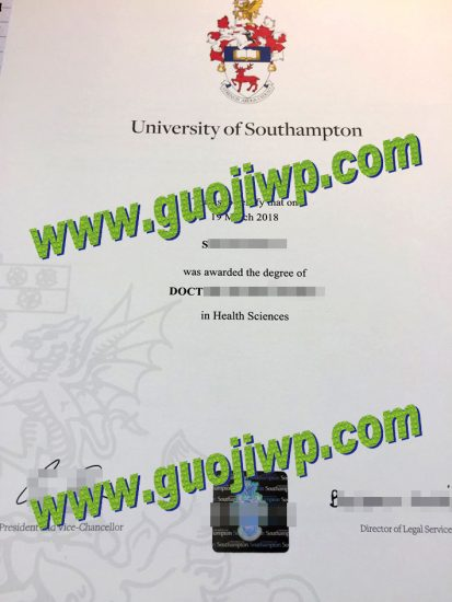 fake University of Southampton certificate