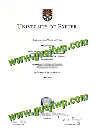 fake University of Exeter diploma