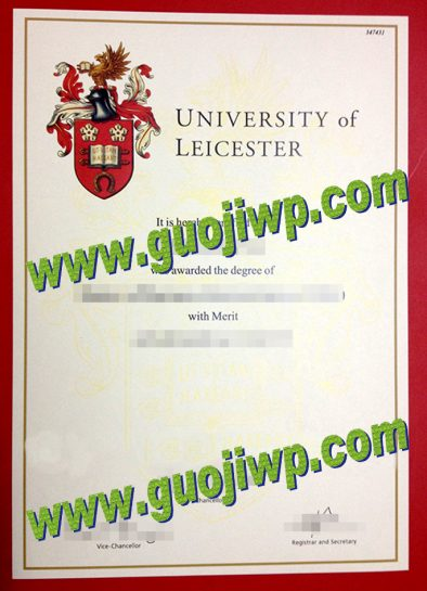 fake University of Leicester diploma