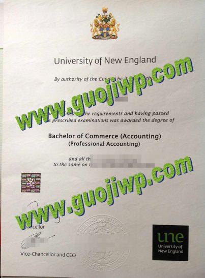 fake UNE diploma