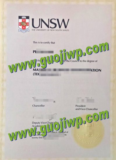 fake UNSW degree certificate