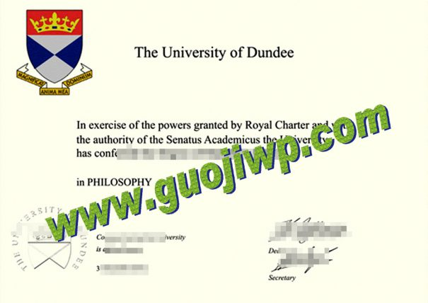 University of Dundee degree