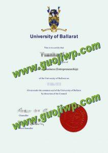 University of Ballarat degree certificate