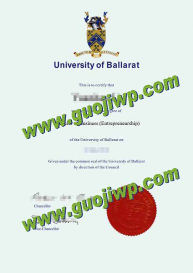 University of Ballarat degree certificate