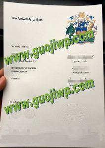 fake University of Bath diploma