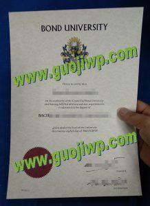 fake Bond University degree certificate
