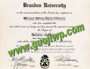 fake Brandon University diploma