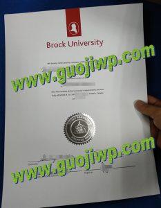 Brock University diploma