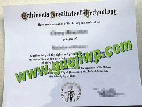 fake California Institute of Technology diploma