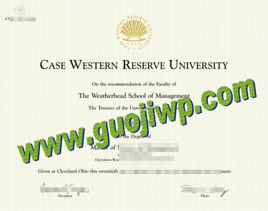 fake CWRU degree certificate