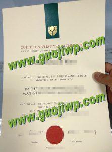 fake Curtin University of Technology diploma