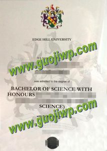 Edge Hill University degree certificate