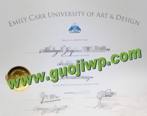 Emily Carr University of Art and Design degree certificate