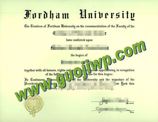 Fordham University degree