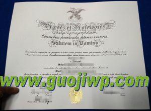 Georgetown University degree certificate