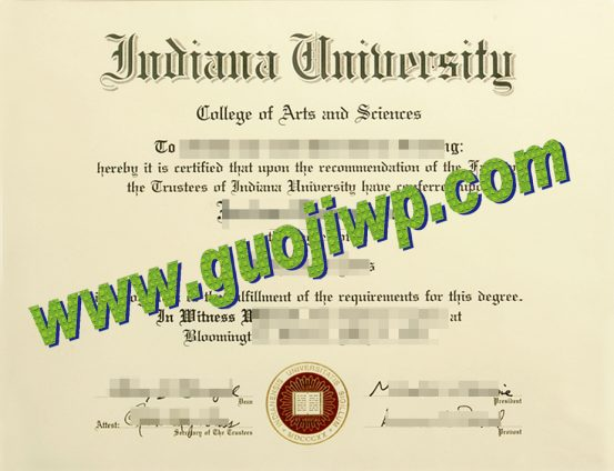 fake Indiana University Bloomington degree certificate
