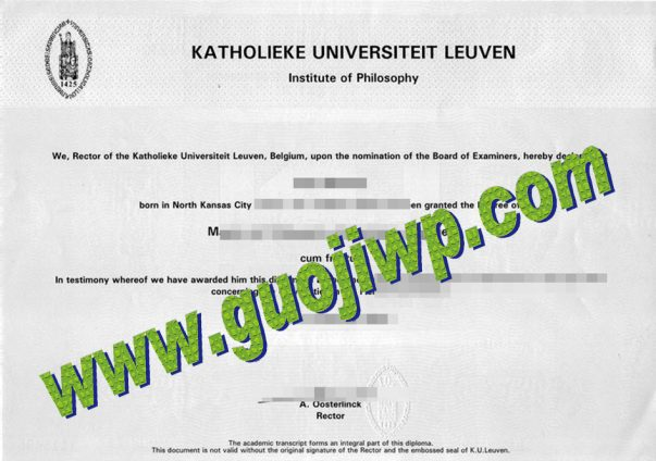 Katholieke Universiteit Leuven degree