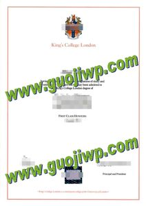 King's College London degree certificate