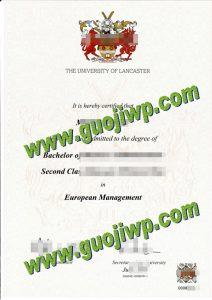 Lancaster University degree certificate