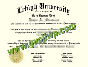 fake Lehigh University diploma