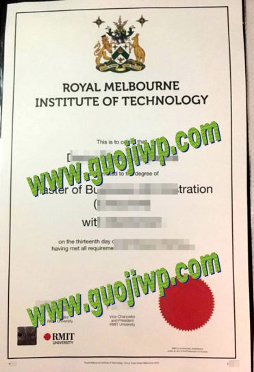 RMIT University degree certificate