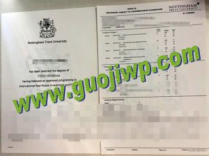 Nottingham Trent University transcript
