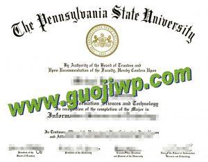 fake Pennsylvania State University degree