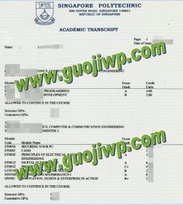 buy Singapore Polytechnic transcript