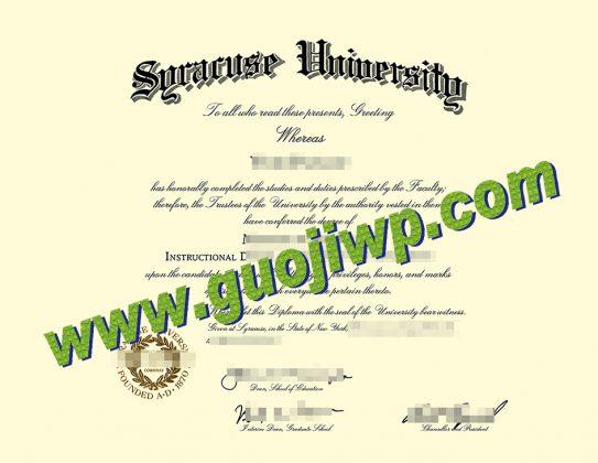 buy Syracuse University degree