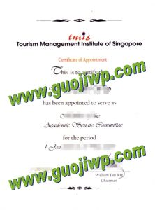 buy Tourism Management Institute of Singapore certificate