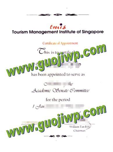 buy Tourism Management Institute of Singapore certificate