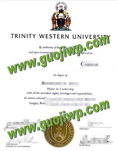 buy Trinity Western University degree certificate