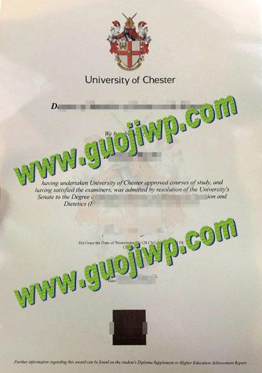 buy University of Chester degree certificate