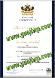 fake University of Huddersfield degree certificate