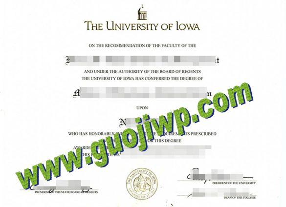 University of Iowa fake degree certificate