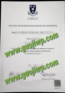 University of Liverpool diploma