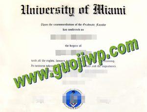 buy University of Miami degree certificate