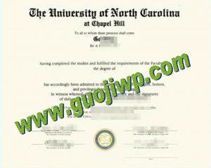fake University of North Carolina at Chapel Hill diploma
