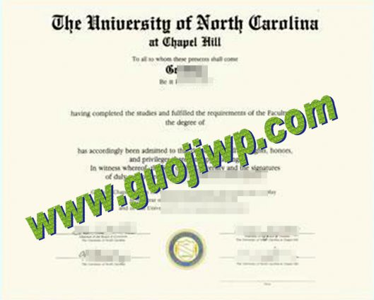 fake University of North Carolina at Chapel Hill diploma