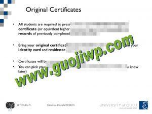 University of Oulu fake diploma, fake degree certificate