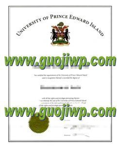 University of Prince Edward Island degree certificate