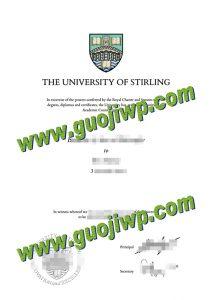 University of Stirling diploma