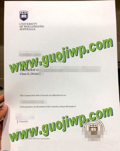 Buy University of Wollongong certificate