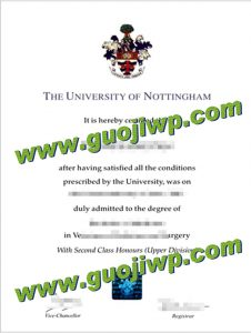 University of Nottingham diploma