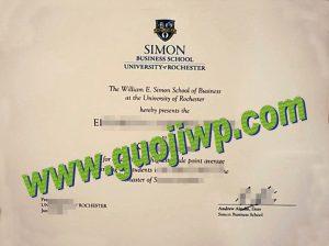 fake University of Rochester diploma