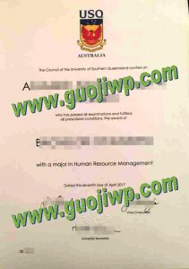 University of Southern Queensland degree certificate