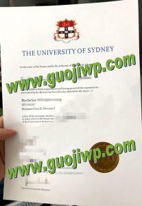 fake University of Sydney certificate