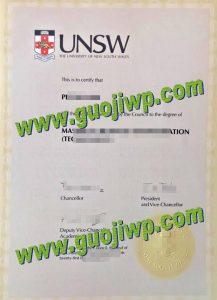 fake UNSW degree certificate