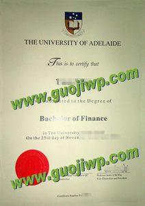 University of Adelaide certificate